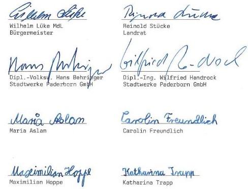 Unterzeichner des Generationenvetrags 1995